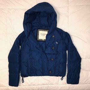 Like new blue abercrombie puffer jacket!